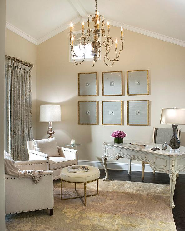 chic home offices beautiful chandelier elegant gorgeous office