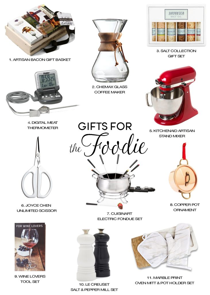 holiday gift guide gifts for foodie and cook christmas gifts