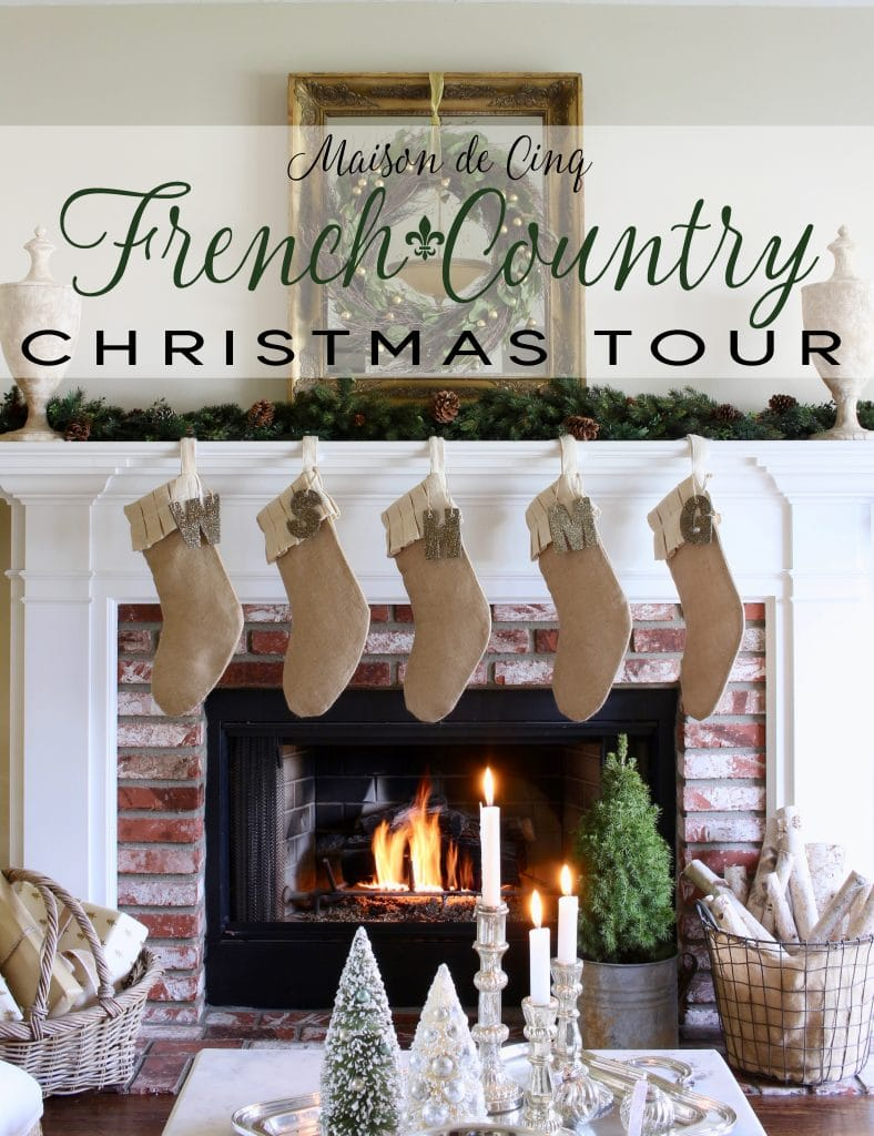 french christmas tour maison de cinq gorgeous fireplace mantel stockings wreath