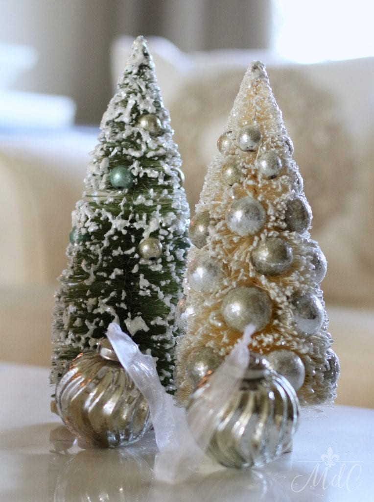 french christmas tour vintage bottle brush trees charming green and white decor