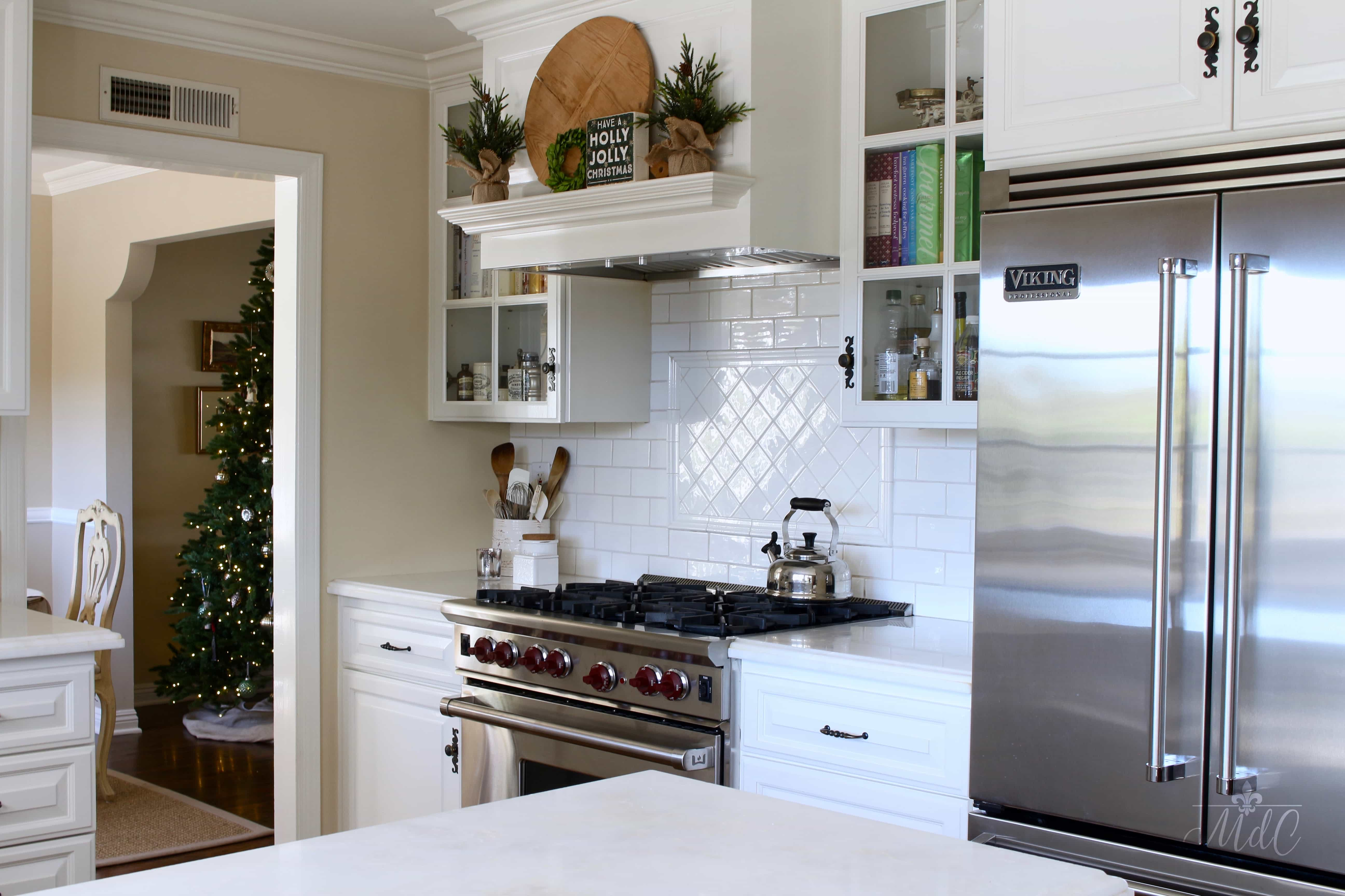 holiday home tour christmas decor in the kitchen