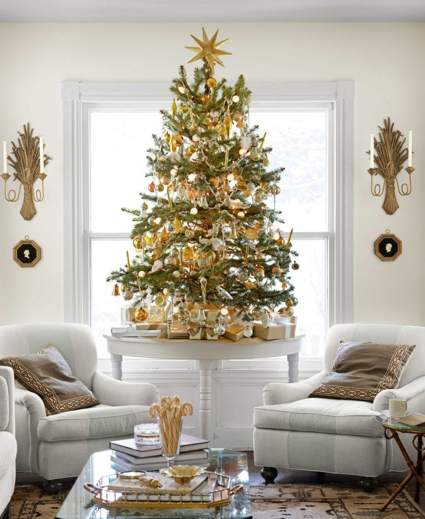 neutral christmas decor tabletop tree stunning living room holiday decorating