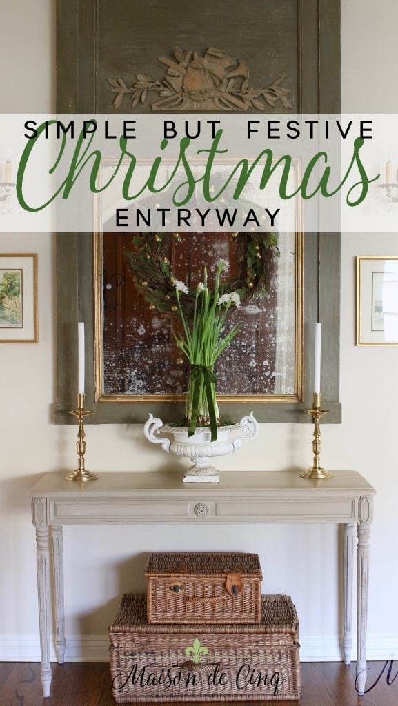 christmas entryway french inspired tour holiday decor