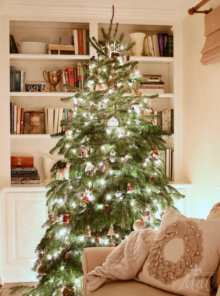 christmas nights tree french country living room charming holiday decor
