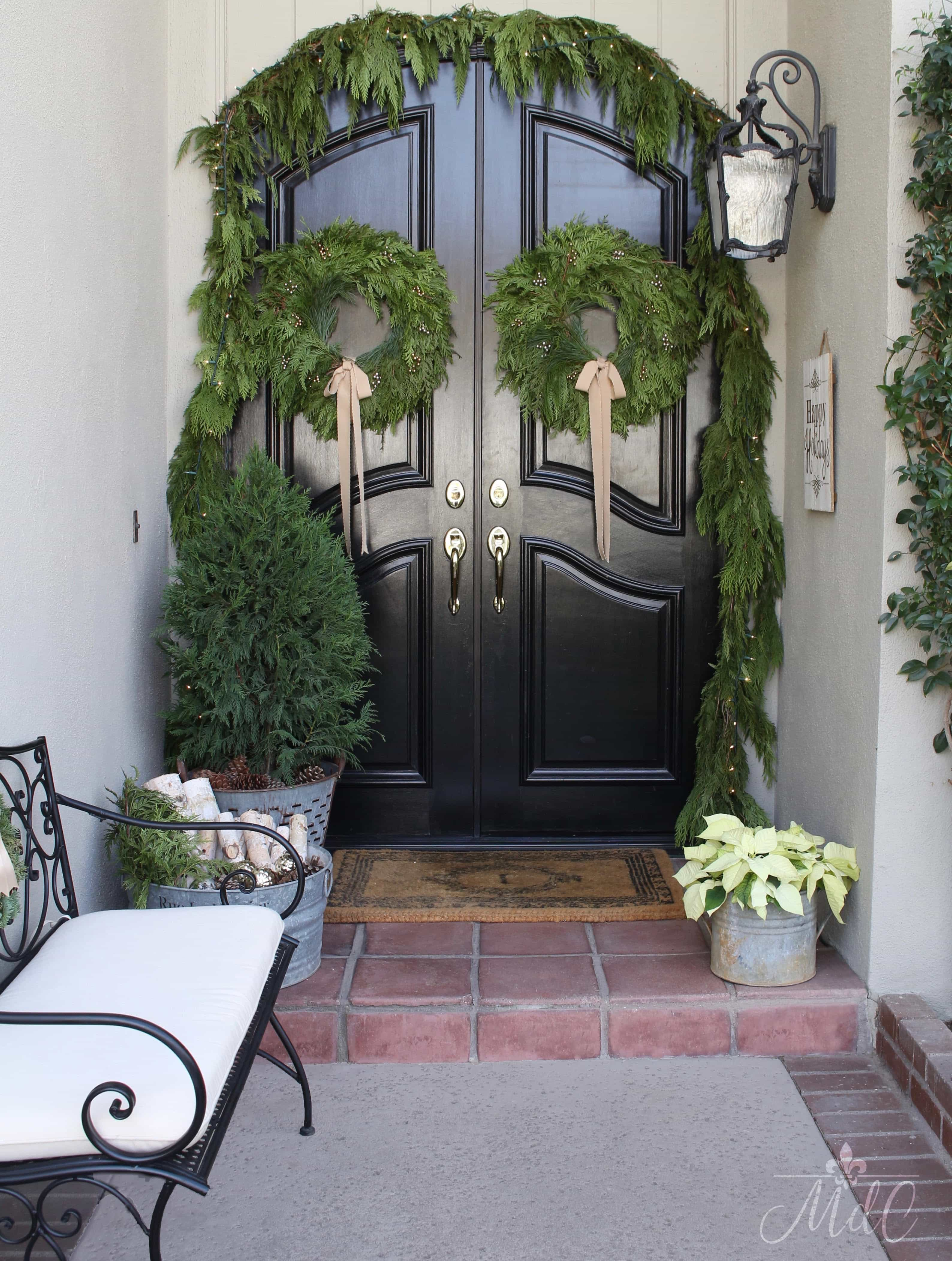 A French Inspired Christmas Front Porch - Maison Style