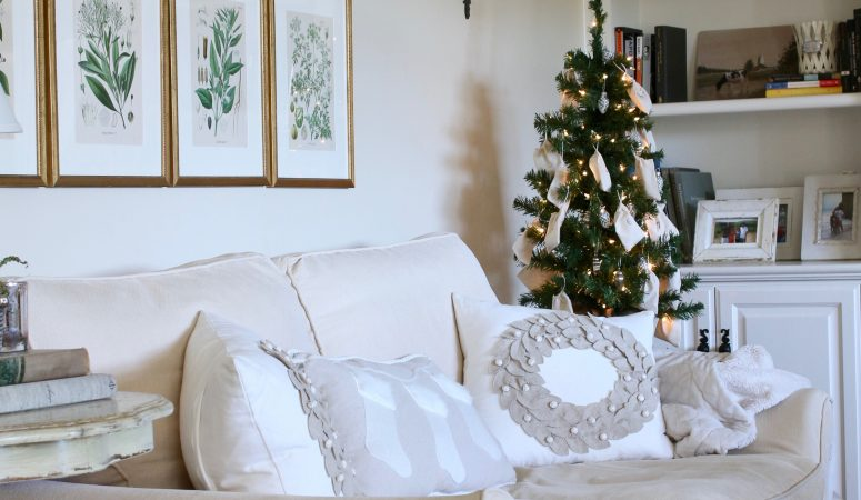 A French Inspired Christmas in the Family Room