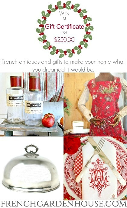 french inspired christmas holiday home tour giveaway