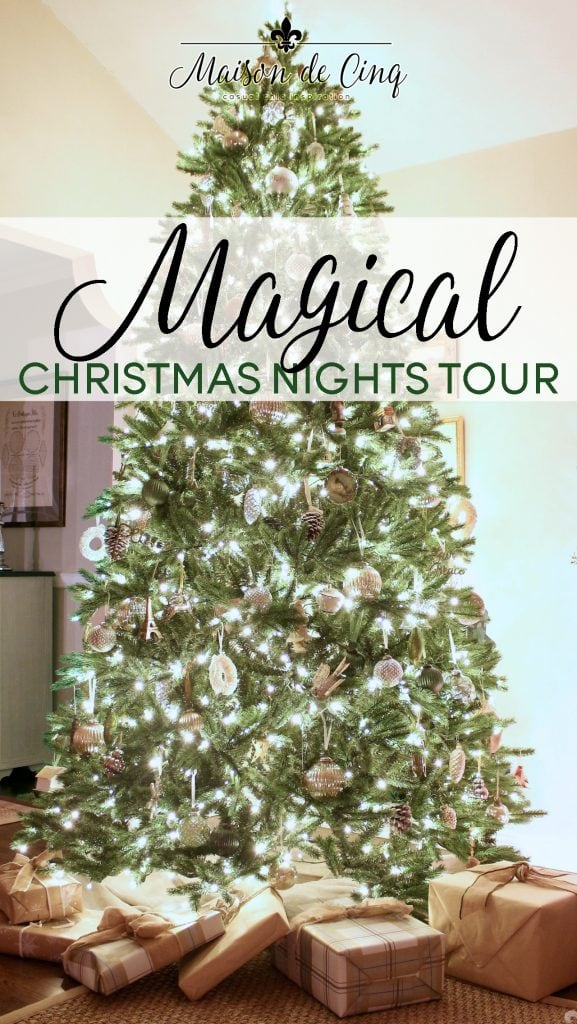 christmas nights blog tour magical glowing tree twinkle lights stunning decor