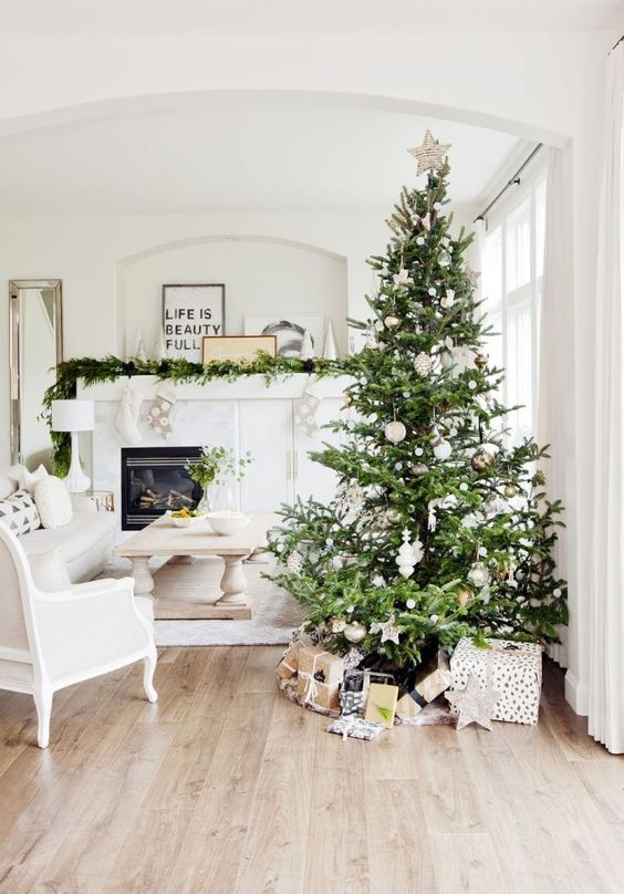 neutral christmas decor stunning white living room holiday decor tree