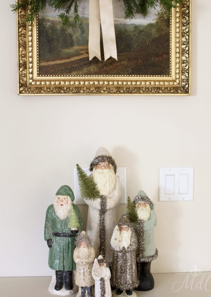 christmas entryway holiday decor vintage santa collection