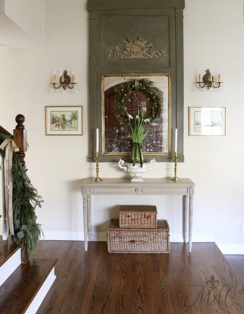 christmas entryway gorgeous french inspired holiday decor