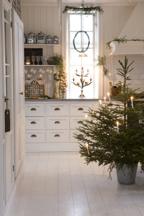 neutral christmas decor scandinavian white kitchen simple christmas
