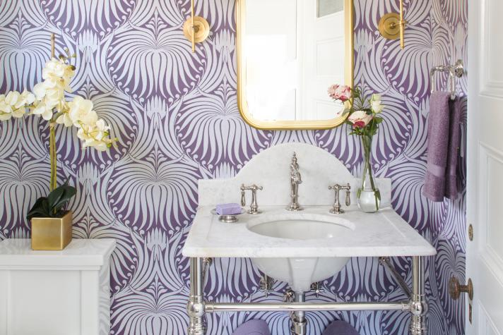 violet pantone color of the year bathroom wallpaper gorgeous