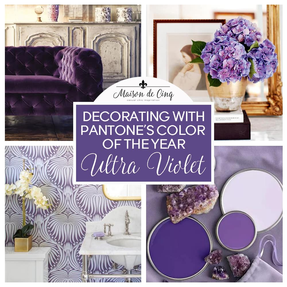 ultra violet pantone color of the year purple inspiration interiors decorating