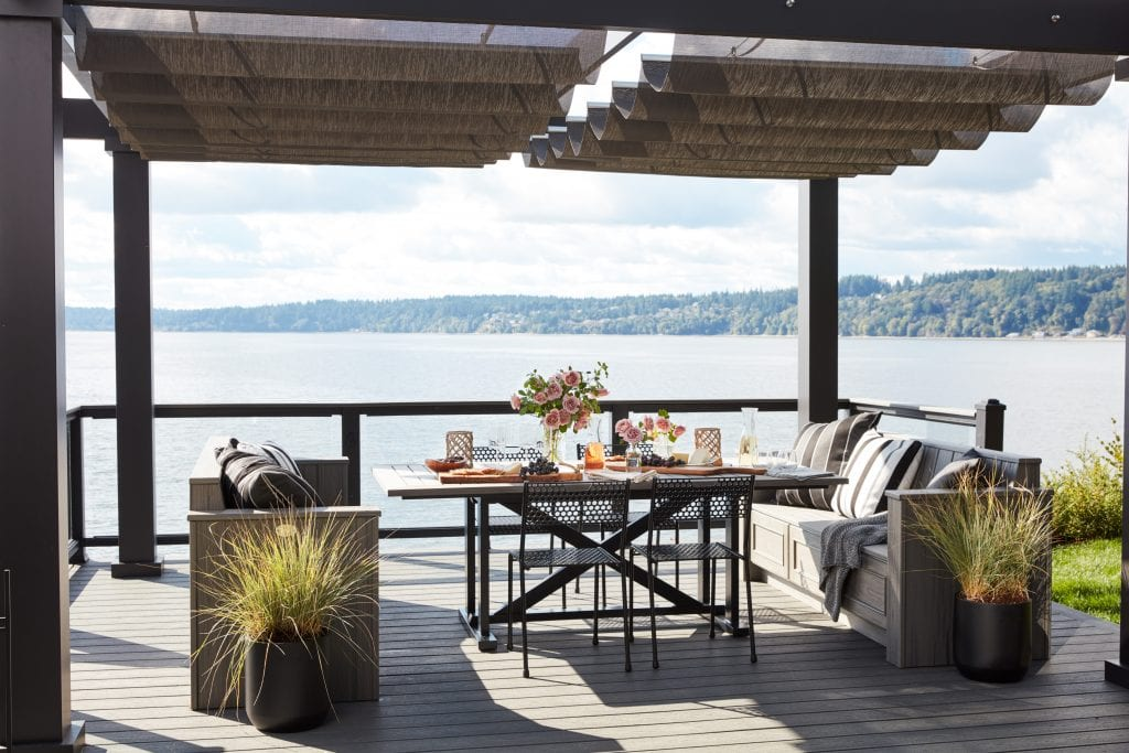 HGTV Dream Home outdoor deck dining area water view stunning