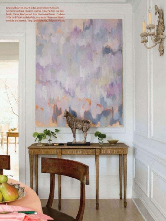 violet pantone color of the year artwork elegant decor white walls decor