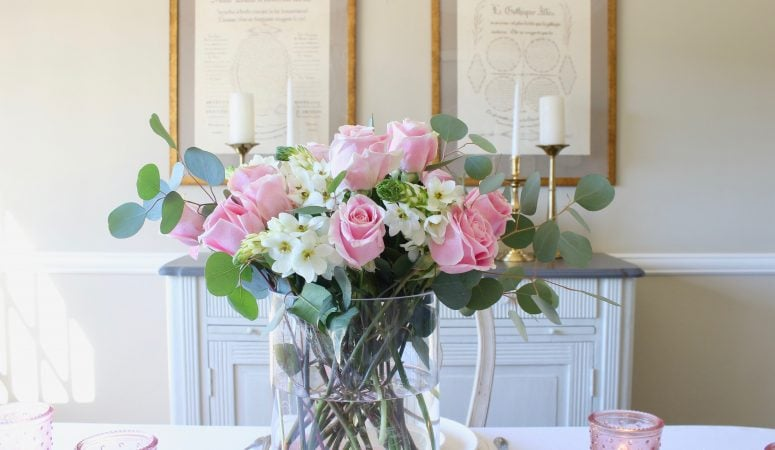 Pretty in Pink: A Soft & Simple Valentine's Day Table