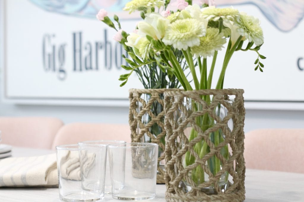 HGTV Dream Home flowers table vignette