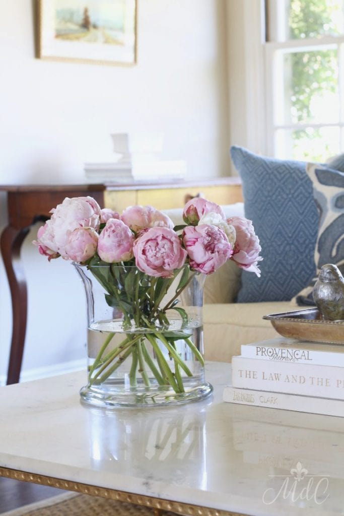 top ten posts spring summer home tour pink peonies stunning living room