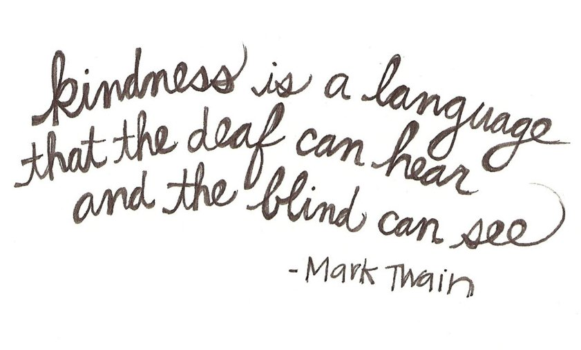 kindness quote mark twain sundays at home link party
