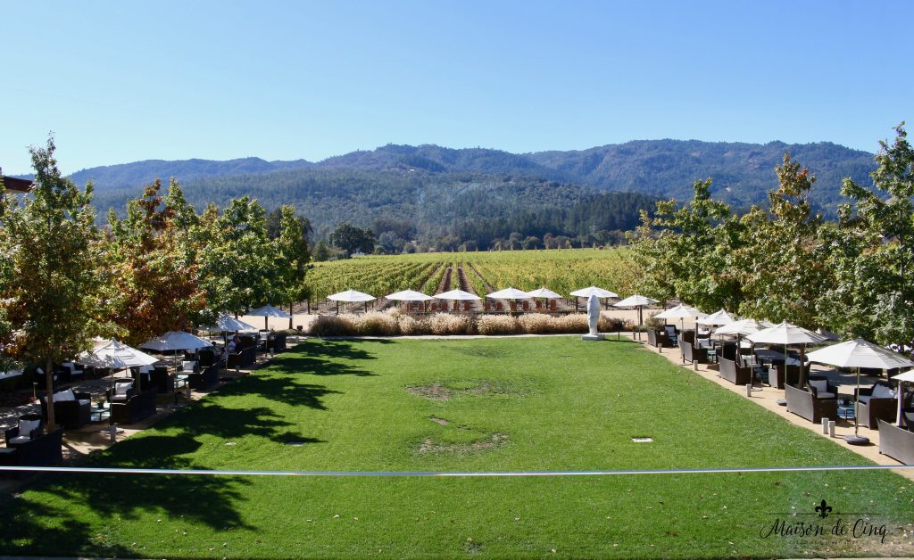 zephyr retreat napa valley stunning view hall wines