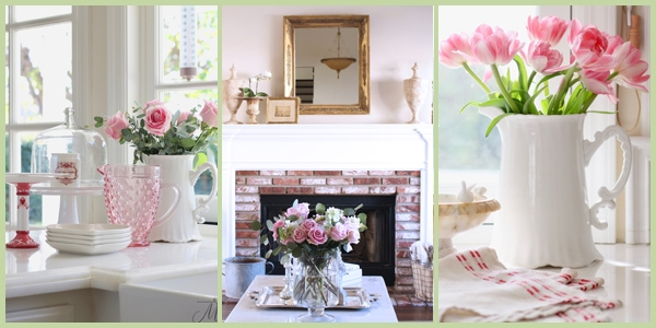 saturdays at home simple valentines decorating with flowers