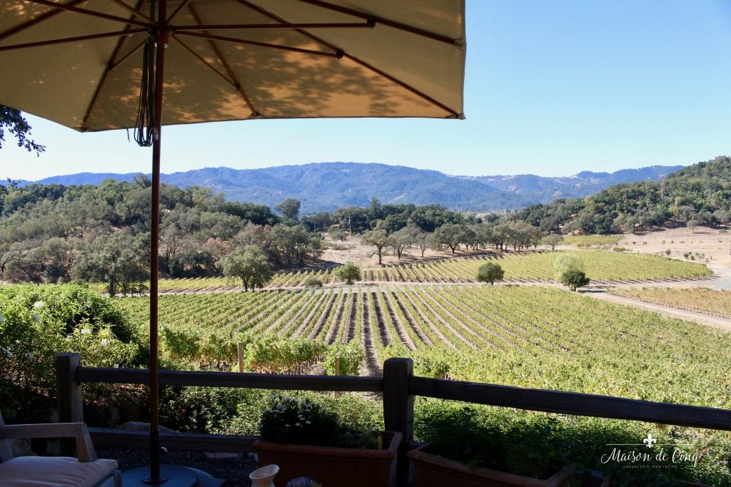 zephyr retreat napa valley joseph phelps winery view