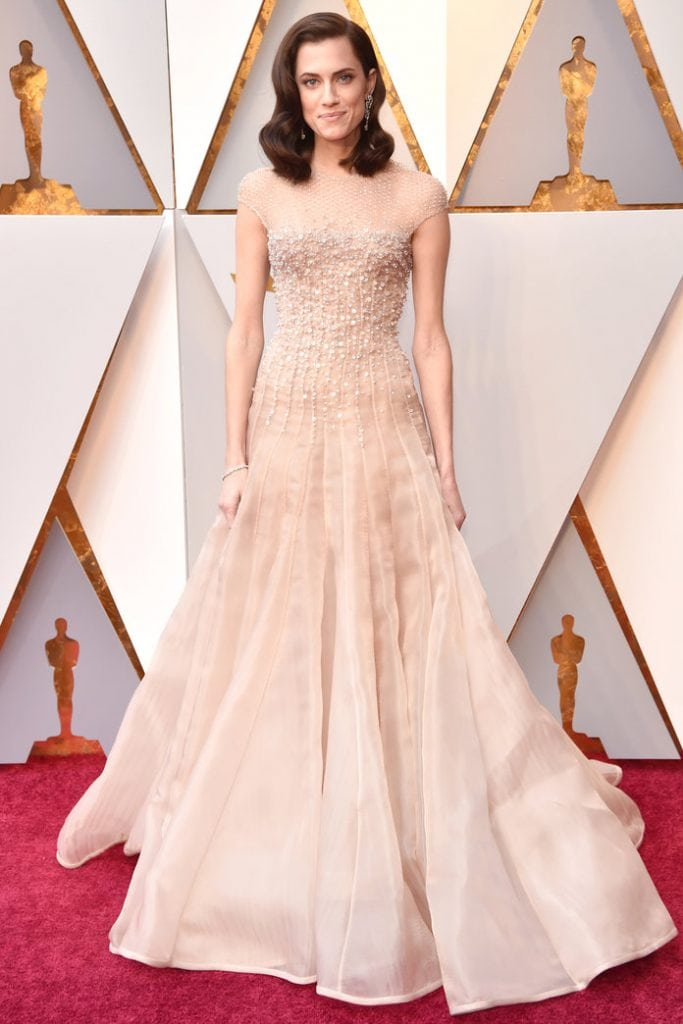 best dressed 2018 oscars Allison Williams