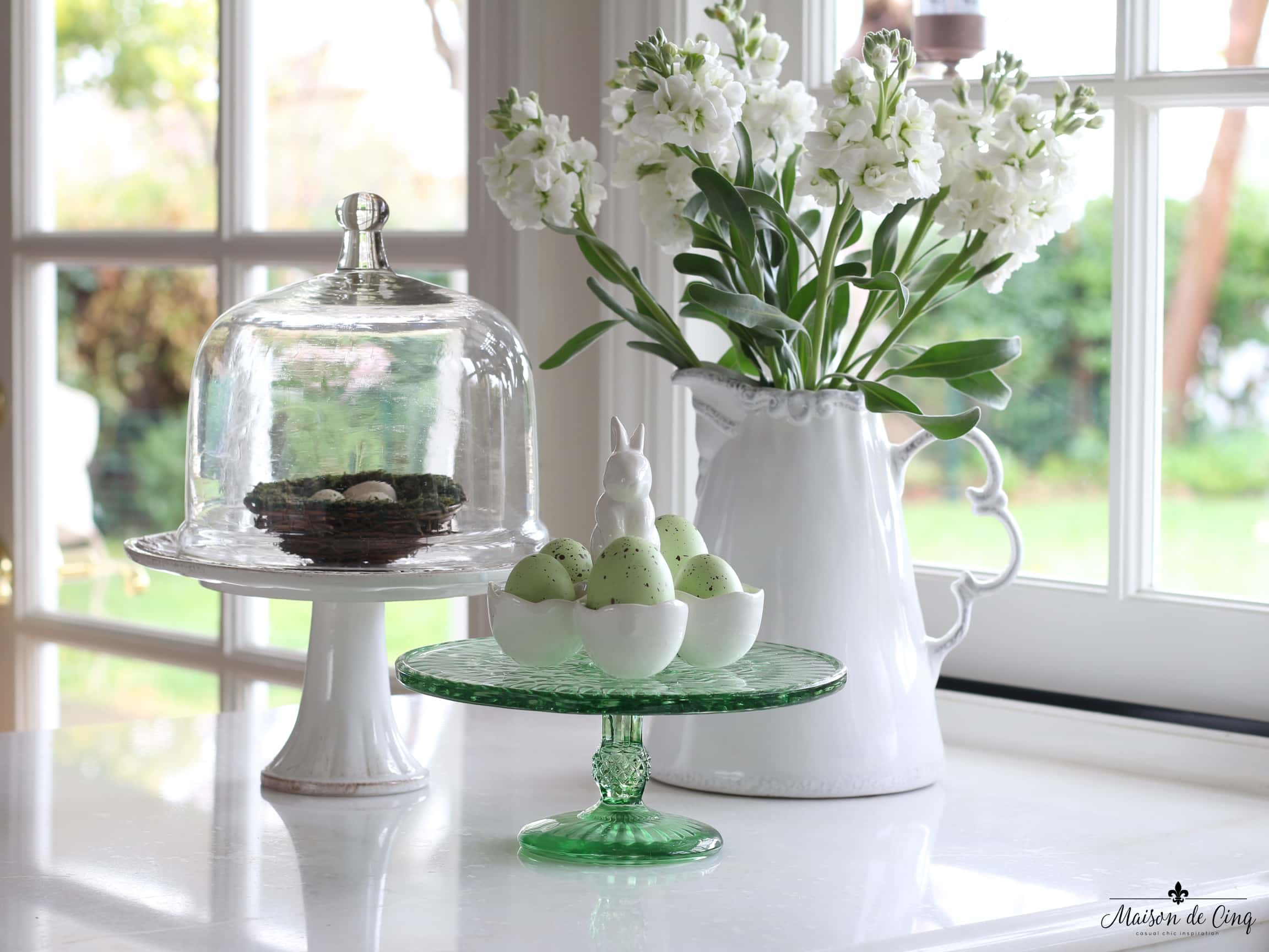 Light And Bright Easter Decor Ideas An Easter Blog Hop