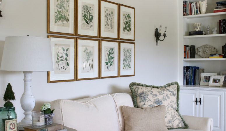 Antique Botanicals and an Update in the Family Room!