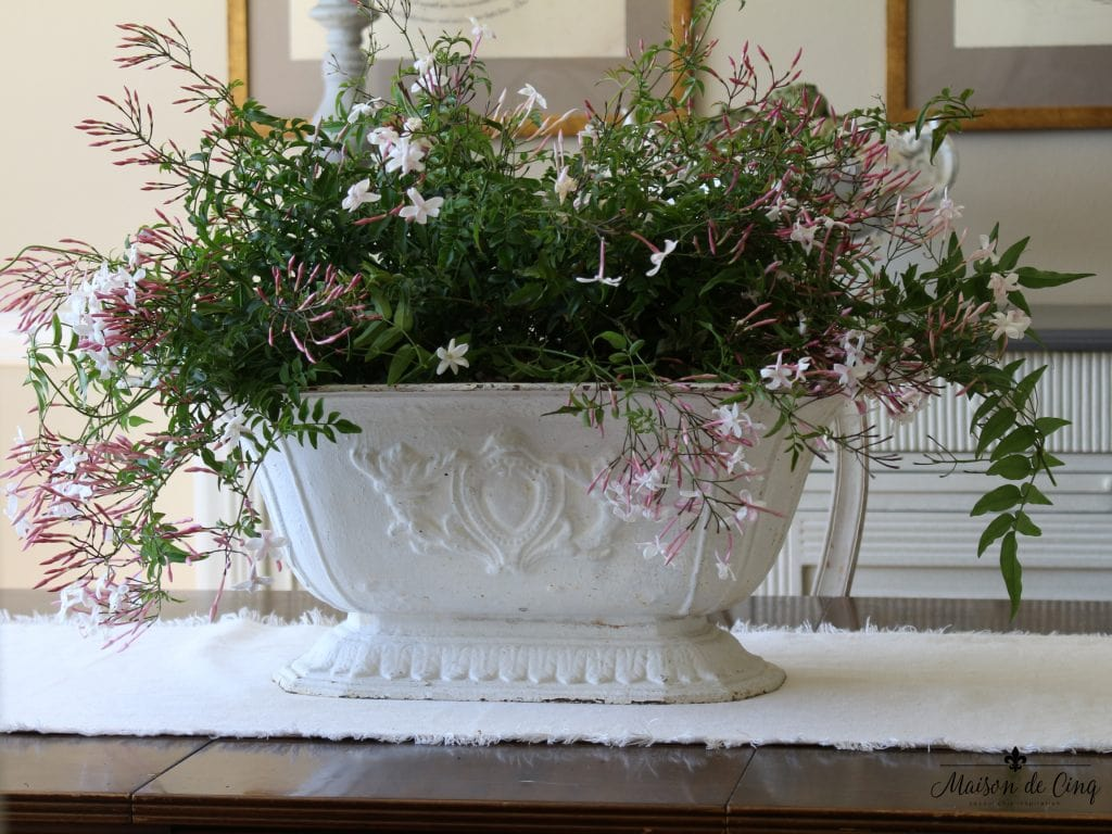 spring decorating ideas stunning french urn chippy white with jasmine easter decor