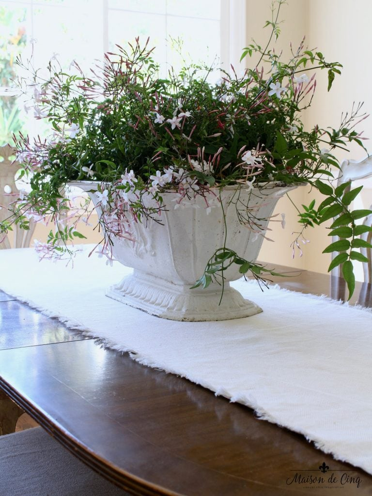 spring decorating ideas stunning french urn with jasmine dining room