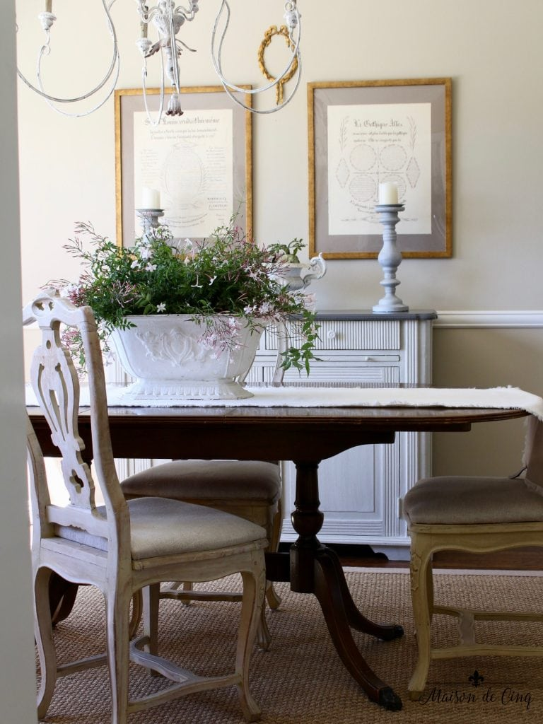 Spring Decorating Ideas Dining Room French Country Style Gorgeous Decor Urn Jasmine