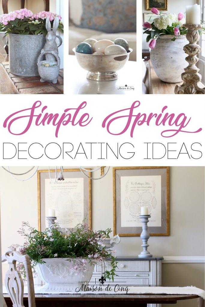 spring decorating ideas light bright vignettes gorgeous easter decor