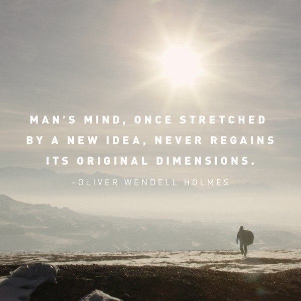 sundays at home party inspirational quote oliver wendell holmes