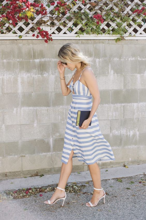 stripes dress summer style fashion
