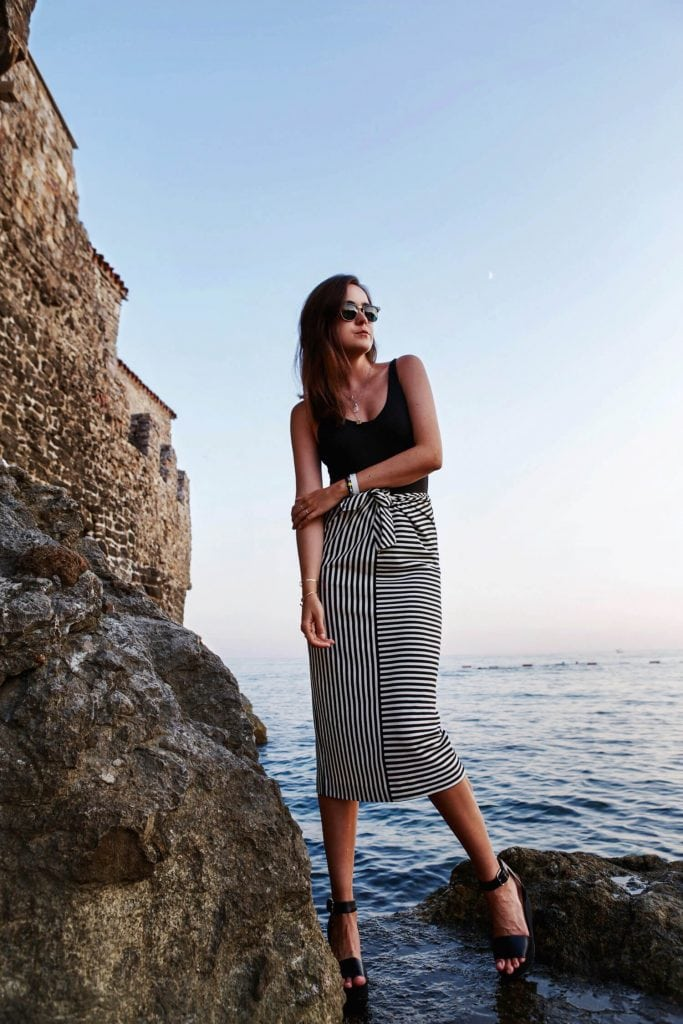 stripes gorgeous skirt chic style