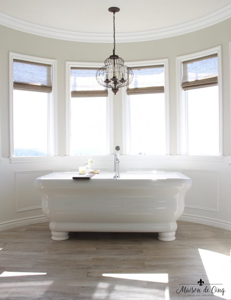 master bathroom remodel stunning circular windows focal point free standing tub
