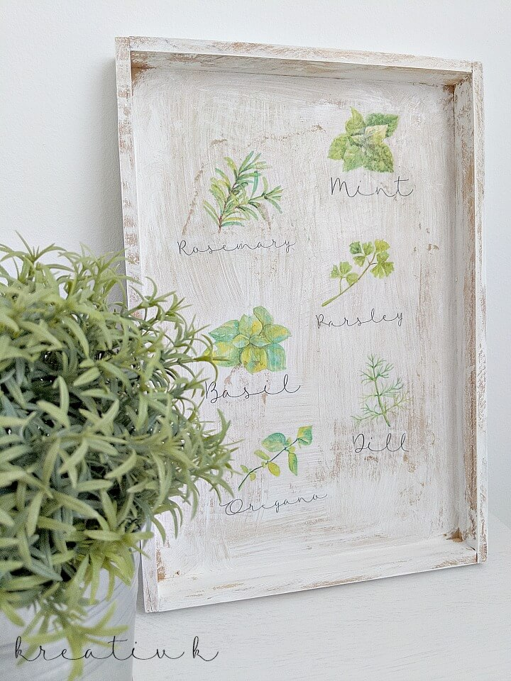 sundays at home featured blogger diy decoupage tray