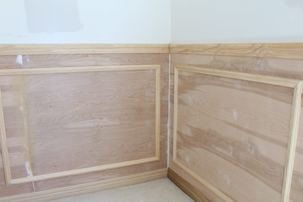 wainscoting home office remodel one room challenge 2