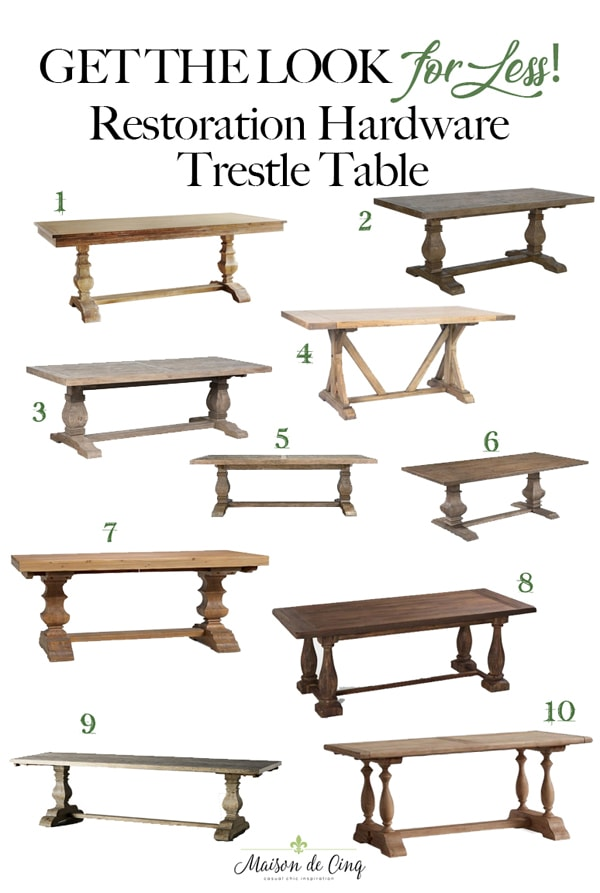 Restoration Hardware dining table for less