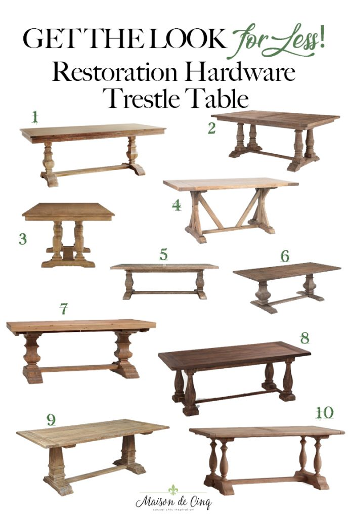 restoration hardware table look for less on maison de cinq