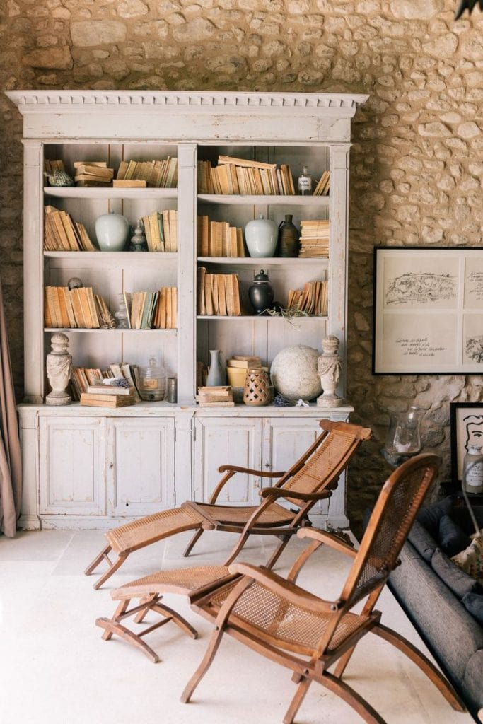 home office book shelves french inspired vintage charming chic