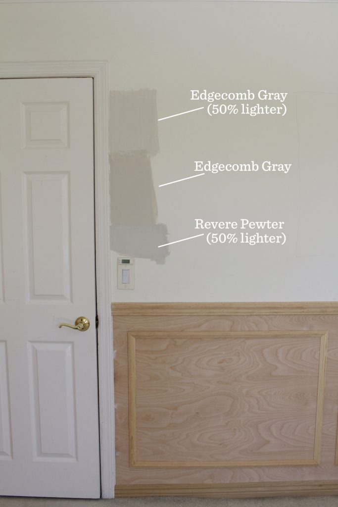 wainscoting home office remodel paint color choices grey greige