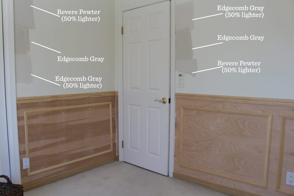 wainscoting home office remodel benjamin moore paint color choices