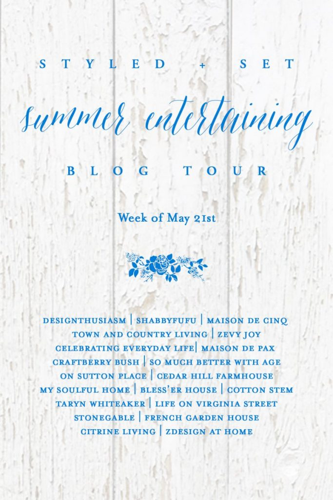 styled + set summer entertaining blog tour table setting ideas