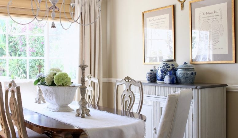 French Country Summer Home Tour in Cool Shades of Blue