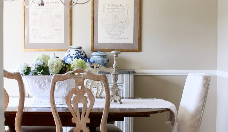 French Country Fridays – Vintage Dishes, Marble, Blue & White, & More!