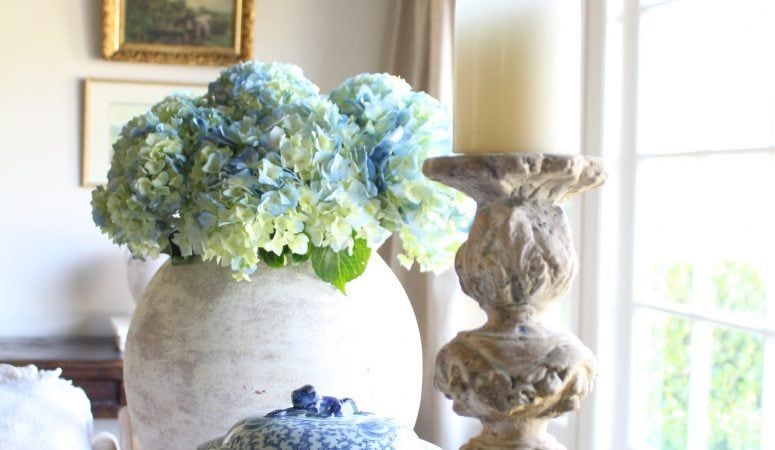 French Country Fridays – Ironstone, Antiques, & Blue and White