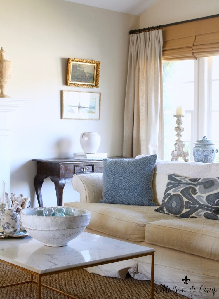 blue and white summer home tour french country living room top ten posts